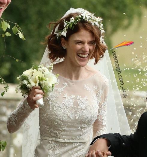 مدل لباس عروس,لباس عروس رز لزلی,مدل تاج عروس,مدل دسته گل عروس