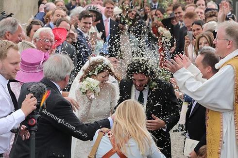 مراسم عروسی رز لزلی,مراسم عروسی کیت هرینگتون,مراسم عروسی رز لزلی Rose Leslie و کیت هرینگتون Kit Harington بازیگران Game Of thrones در اسکاتلند