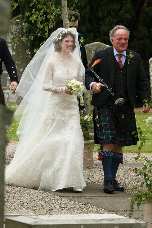 مراسم ازدواج رز لزلی،مراسم ازدواج کیت هرینگتون،, مراسم ازدواج رز لزلی Rose Leslie و کیت هرینگتون Kit Harington بازیگران Game Of thrones