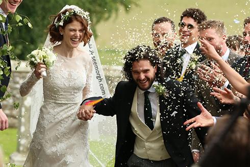 رز لزلی,کیت هرینگتون,مراسم ازدواج کیت هرینگتون و رز لزلی,مراسم عروسی رز لزلی Rose Leslie و کیت هرینگتون Kit Harington