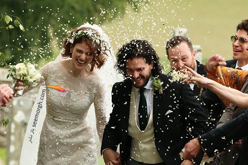 مراسم ازدواج  رز لزلی, مراسم ازدواج کیت هرینگتون,مراسم ازدواج بازیگران Game of thrones,مراسم ازدواج رز لزلی Rose Leslie و کیت هرینگتون Kit Harington
