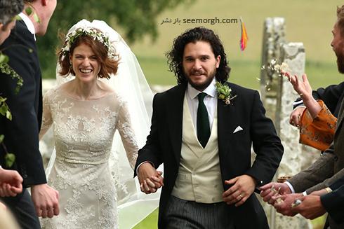 ,مراسم عروسی رز لزلی Rose Leslie و کیت هرینگتون Kit Harington در اسکاتلند,مراسم عروسی رز لزلی,مراسم عروسی بازیگران Game of thrones,