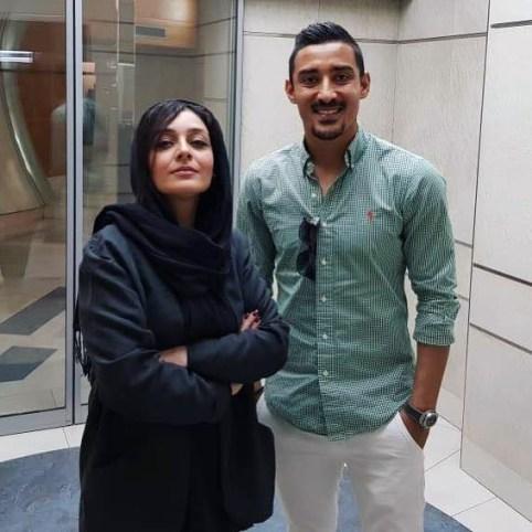رضا قوچان نژاد در کنار ساره بیات