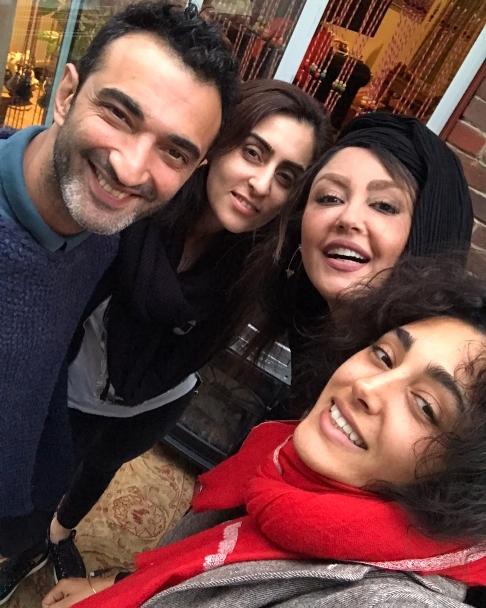 عکس شقایق فراهانی و گلشیفته فراهانی در کنار دوستان شان