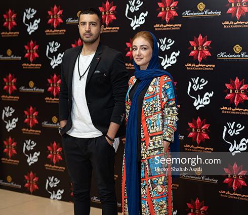 ویدا جوان و مهرداد صدیقیان در اکران سهیلا شماره 17