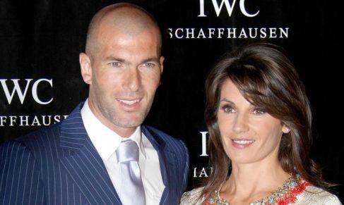 زيدان و همسرش