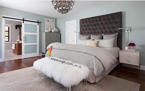 دکوراسیون اتاق خواب,رنگ دکوراسیون اتاق خواب,رنگ آرامش بخش برای دکوراسیون اتاق خواب,رنگ خاکستری روشن برای دکوراسیون اتاق خواب