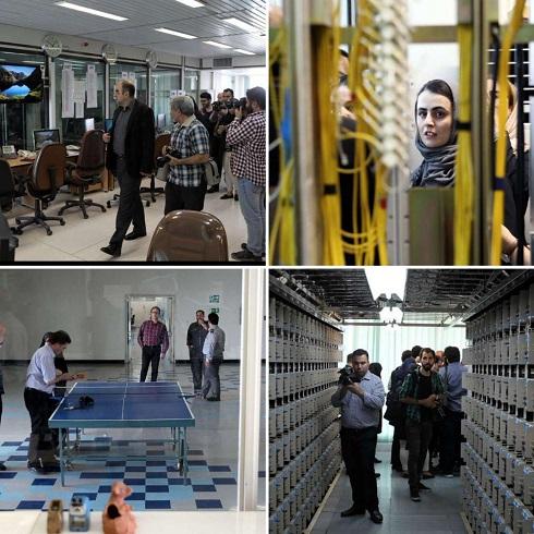 بازدید خبرنگاران از طبقه نهم ساختمان مخابرات تهران