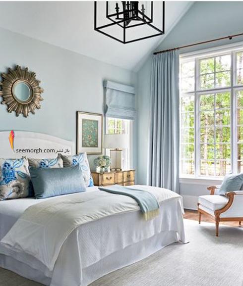 رنگ آبی یخی برای دکوراسیون داخلی اتاق خواب,دکوراسیون اتاق خواب,رنگ در دکوراسیون اتقا خواب