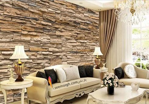 کاغذ دیواری سه بعدی با طرح سنگ تلفیقی برای اتاق نشیمن,کاغذ دیواری سه بعدی,کاغذ دیواری سه بعدی برای اتاق خواب