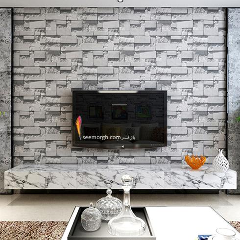 کاغذ دیواری سه بعدی با طرح سنگ مرمر مخصوص پشت ال سی دی,کاغذ دیواری سه بعدی,کاغذ دیواری سه بعدی مخصوص پشت ال سی دی