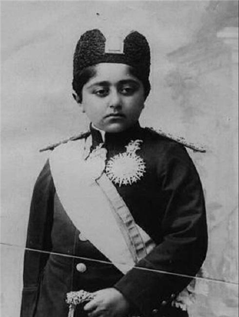 احمدشاه قاجار در کودکی، تصویر احمدشاه