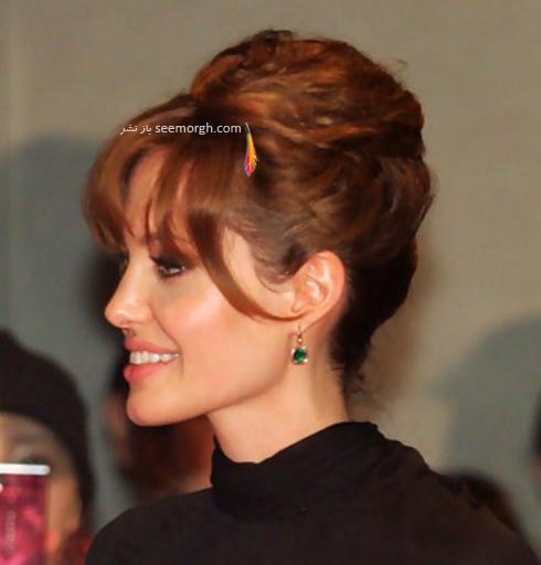 بهترین مدل مو جمع به پیشنهاد آنجلینا جولی Anjelina Jolie,مدل مو جمع به پیشنهاد آنجلینا جولی,بهترین مدل مو,بهترین مدل مو جمع