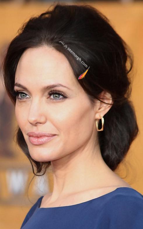 بهترین مدل مو جمع به سبک آنجلینا جولی Anjelina Jolie,مدل مو جمع,بهترین مدل مو جمع,مدل مو جمع آنجلینا جولی,مدل مو جمع آنجلینا جولی