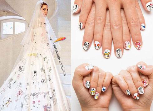 طراحي ناخن,مدل طراحي ناخن,مدل هاي طراحي ناخن,طراحي ناخن آنجلينا جولي,طراحي ناخن به رنگ سفيد به سبک آنجلينا جولي Angelina Jolie
