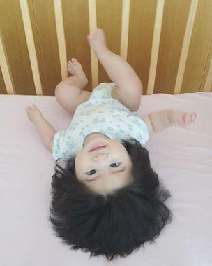 مو های جالب نوزاد ژاپنی