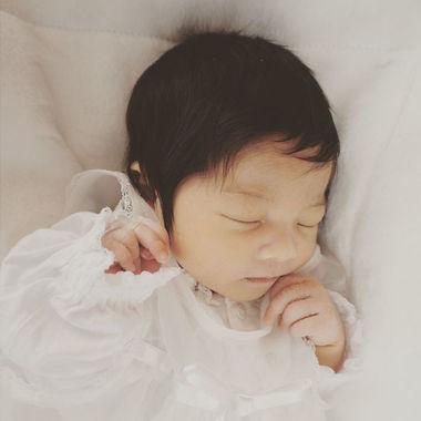مو های نوزاد ژاپنی در زمان تولد