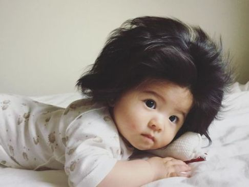 مو های نوزاد ژاپنی