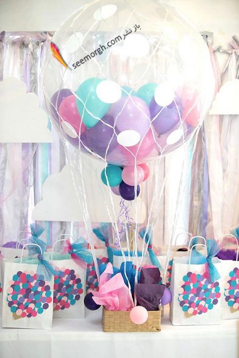بادکنک آرايي,تم تولد,جشن تولد,تزيين خانه براي تولد