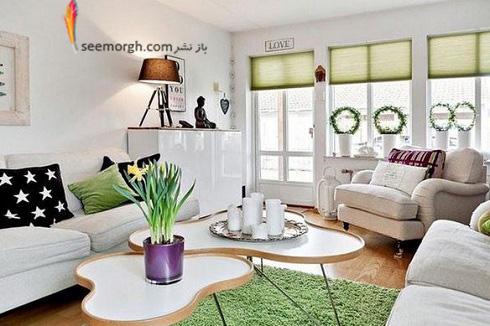 دکوراسیون داخلی,طراحی دکوراسیون داخلی,دکوراسیون داخلی منزل,ترکیب رنگ در دکوراسیون داخلی,سبز در دکوراسیون داخلی,دکوراسیون سیاه و سفید