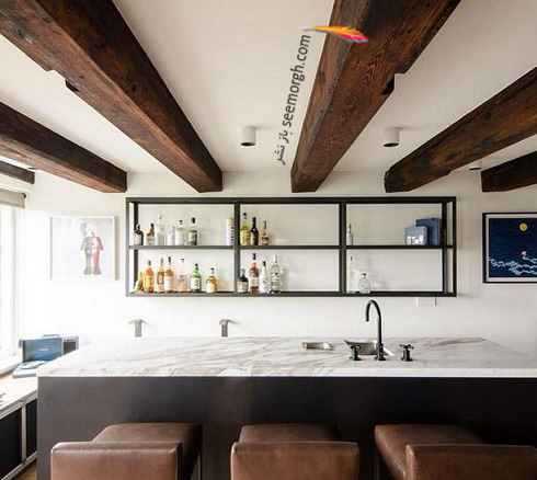 دکوراسیون آشپزخانه,جدیدترین دکوراسیون آشپزخانه,کابینت آشپزخانه,کابینت سیاه سفید,مدل کابینت آشپزخانه,آشپزخانه کوچک,آشپزخانه مدرن