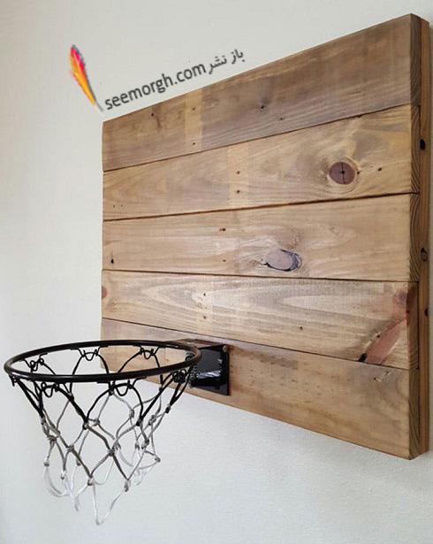 اتاق پسر بچه,دکوراسیون اتاق پسر بچه,تور بسکتبال در اتاق پسر بچه