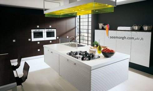 مدل کابینت,دکوراسیون داخلی,دکوراسیون داخلی آشپزخانه,آشپزخانه مدرن,آشپزخانه جزیره,کابینت سفید