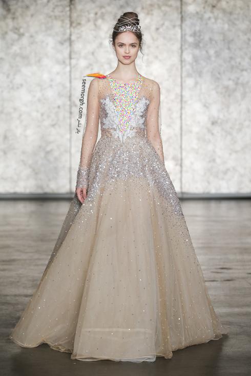 لباس عروس بژ طلایی برای تابستان 2018,لباس عروس,مدل لباس عروس,لباس عروس طلایی,مدل لباس عروس طلایی, لباس عروس برای تابستان,مدل لباس عروس برای تابستان 2018,لباس عروس بژ طلایی