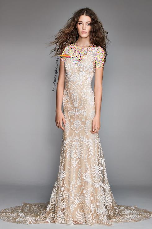 مدل لباس عروس بژ طلایی برای تابستان 2018,لباس عروس,مدل لباس عروس,لباس عروس طلایی,مدل لباس عروس طلایی, لباس عروس برای تابستان,مدل لباس عروس برای تابستان 2018,لباس عروس بژ طلایی