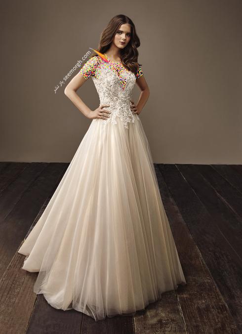 لباس عروس بژ برای تابستان 2018,لباس عروس,مدل لباس عروس,لباس عروس طلایی,مدل لباس عروس طلایی, لباس عروس برای تابستان,مدل لباس عروس برای تابستان 2018,لباس عروس بژ طلایی