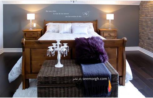 اتاق خواب,دکوراسیون اتاق خواب,رنگ دکوراسیون اتاق خواب,رنگ آرامش بخش برای دکوراسیون اتاق خواب,رنگ خاکستری آبی برای دکوراسیون داخلی اتاق خواب