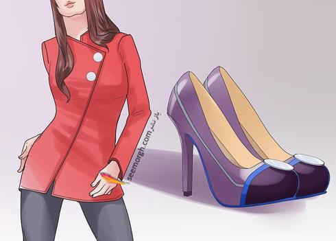 ست کردن رنگ کفش با رنگ لباس,اصول ست کردن رنگ کفش با رنگ لباس,انتخاب رنگ کفش با لباس های ترکیبی
