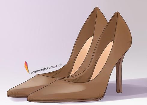کفش های قهوه ای و مشکی، دو رنگ همه کاره,ست کردن رنگ کفش با رنگ لباس,اصول ست کردن رنگ کفش با رنگ لباس,