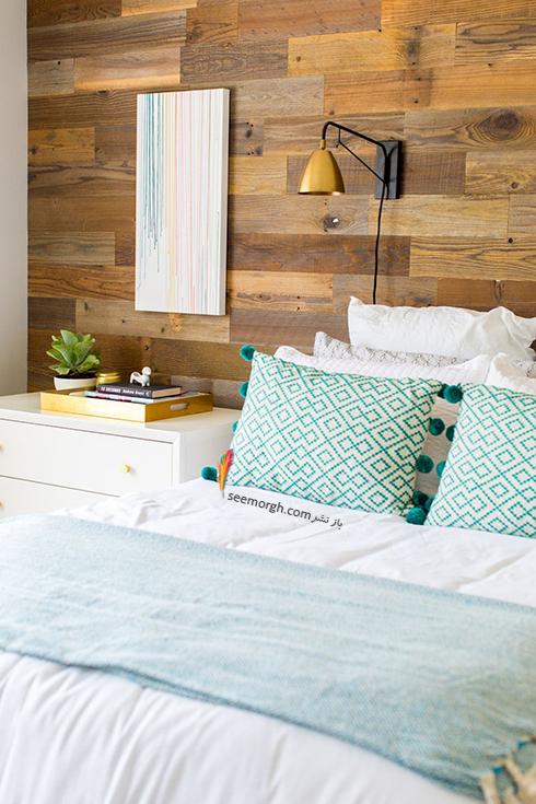 اتاق خواب,چیدمان اتاق خواب کوچکا,اصول چیدان لوازم در اتاق خواب کوچک,استفاده از تخت خواب بدون سرتخت ( headboard ) در دکوراسیون اتاق خواب کوچک
