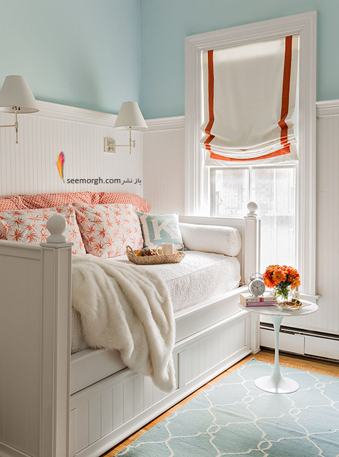اتاق خواب,چیدمان اتاق خواب کوچکا,اصول چیدان لوازم در اتاق خواب کوچک,استفاده از کاناپه تخت خوابی در دکوراسیون اتاق خواب کوچک