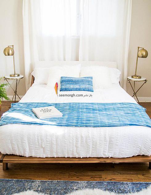 اتاق خواب,چیدمان اتاق خواب کوچکا,اصول چیدان لوازم در اتاق خواب کوچک,در اتاق خواب های کوچک، تخت خواب تان را جلو پنجره قرار دهید