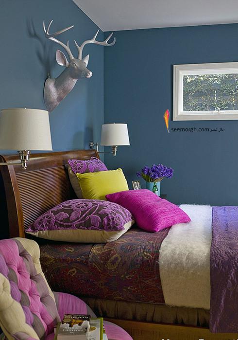 اتاق خواب,چیدمان اتاق خواب کوچکا,اصول چیدان لوازم در اتاق خواب کوچک,برای اتاق خواب کوچک از یک رنگ استفاده کنید
