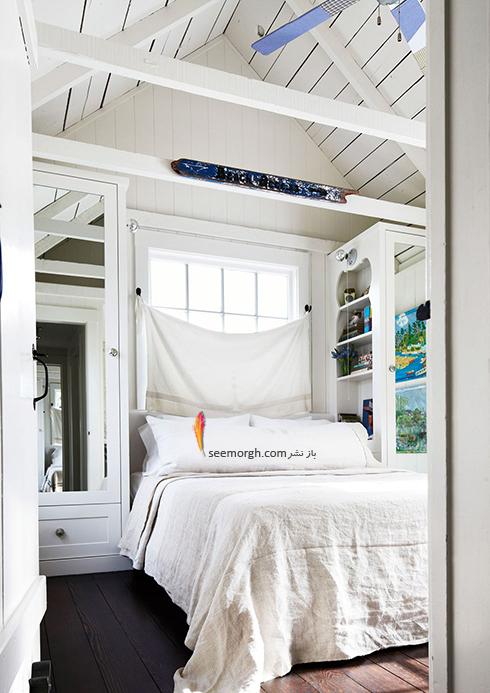 اتاق خواب,چیدمان اتاق خواب کوچکا,اصول چیدان لوازم در اتاق خواب کوچک,در دکوراسیون اتاق خواب های کوچک، معجزه آینه ها را فراموش نکنید