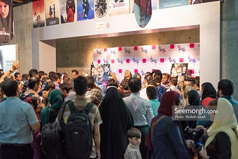حضور هنرمندان در اکران مردمی دلم می خواد، عکس مهناز افشار
