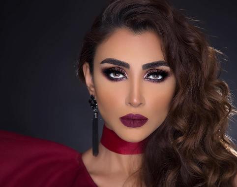 چهره الهام عرب با آرایش