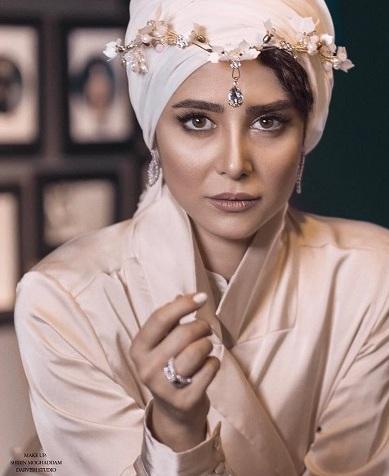 عکس الناز حبیبی به عنوان مدل آرایشی