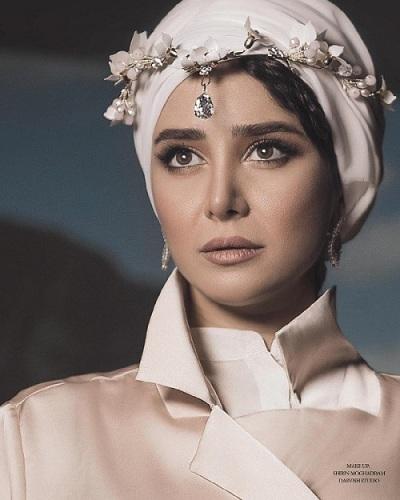 چهره الناز حبیبی به عنوان مدل آرایشی