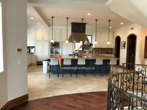دکوراسیون داخلی ویلای اوا لانگوریا Eva Longoria - آشپزخانه,دکوراسیون داخلی,دکوراسیون داخلی خانه اوا لانگوریا