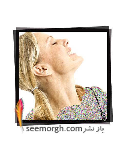 یوگا,یوگای صورت,پیشگیری از افتادگی چانه و گردن