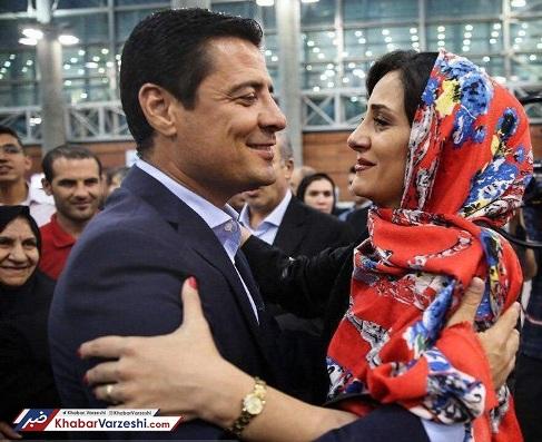 علیرضا فغانی و همسرش