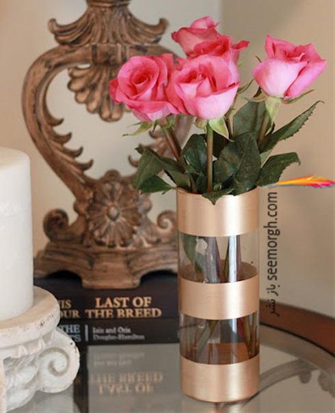 ساخت گلدان,درست کردن گلدان,آموزش ساخت گلدان,آموزش ساخت گلدان با وسایل دور ریختنی,ساخت گلدان طلایی