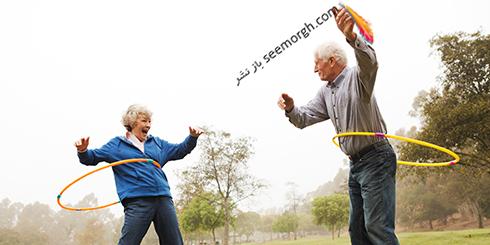 ورزش در سنین بالا,پیرمرد و پیرزن در حال ورزش