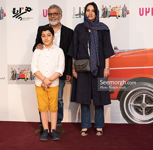 مرجان شیرمحمدی و بهروز افخمی در اکران خصوصی هزارپا, بهروز افخمی و همسرش, مرجان شیرمحمدی