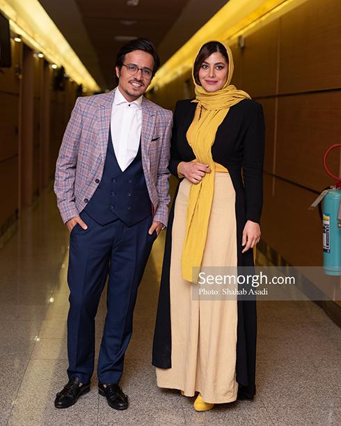 حسین سلیمانی , حسین سلیمانی و همسرش در اکران خصوصی هزارپا