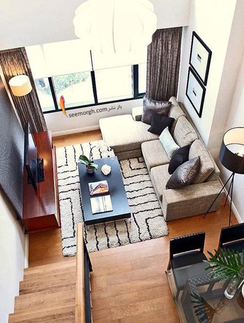 چیدمان کاناپه و تلویزیون در خانه های کوچک,مبل,مبلمان,چیدن مبل,چیدن مبلمان,چیدن مبل در آپارتمان های کوچک,چیدن مبلمان در آپارتمان های کوچک